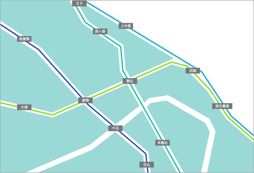 駒込エリアマップ